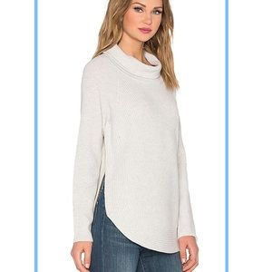 Vince side zip cowl neck sweater